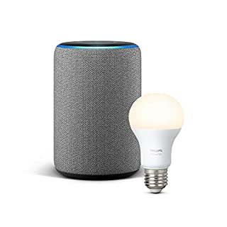 Echo Plus (2.ª generación), tela de color gris oscuro + Philips Hue White Bombilla LED E27 (B07H3CV89C) | Amazon price tracker / tracking, Amazon price history charts, Amazon price watches, Amazon price drop alerts