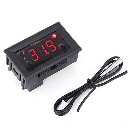 W1218-20 ~ 100 ℃ Controlador de temperatura digital Precisión de medición 1 ℃ Rojo/Azul (opcional) Regulador de termostato DC12V(rojo)