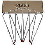 JIAFEI JOIE Trampolin-Windspieße, 4 Stück/6 Stück robuste Bodenspieße, verzinkter rostfreier Stahl, Anker-Set, 30,5 cm, U-förmig, scharfes Ende, für Camping, Outdoor-Trampolin (6 Stück)