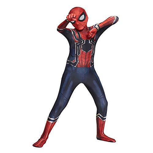 WUHX Spiderman Costume Kids Child Superhero Spiderman Cosplay Costumes Suit Lycra Spandex Zentai 3D Style Jumpsuit Bodysuit Halloween Cosplay Masquerade,A,M 115~125