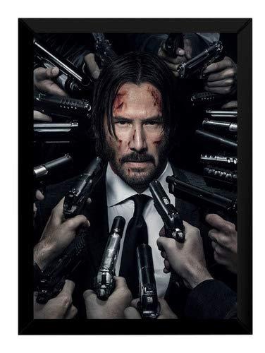 Quadro Filme John Wick Parte 2 Poster Moldurado