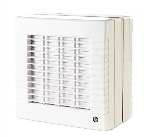 Abluftventilator 125mm für Fenstermontage, mit elektrischem Innenverschluss, ideal für Raucherräume