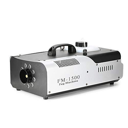 Nebelmaschine, HaroldDol Nebel Maschine mit Funkfernbedienung und LED, DMX512 1500W Stabil & Tragbar, Passend für Halloween, Weihnachten, Hochzeitsfeiern & Bühnenauftritte usw