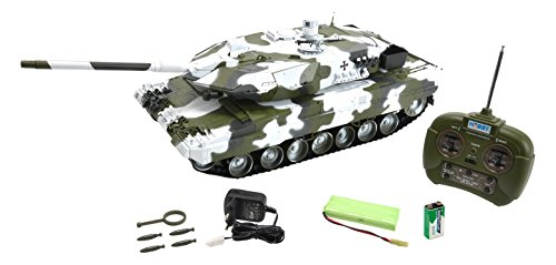 Carson 500907196 - Panzer, 1:16 Leopard 2A6, 27 MHz, 100{2a353ef9705e4e8214421866f2e382ce292d24e3ea760187ace59dc5bf446a66} RTR