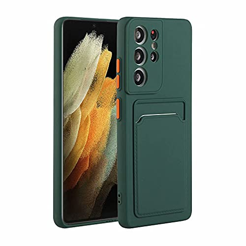 Molg Hoesje voor Samsung Galaxy S21 Ultra 5G [Screen Protector] Ultradunne Zachte TPU Siliconen Shock Proof…