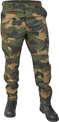 Lange Jagdhose Jägerhose aus robustem Baumwollmischgewebe Farbe Woodland Größe 3XL