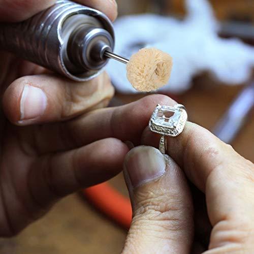 LAITER 30 Strumenti Lucidatura Dremel Lana Morbido Acciaio Inossidabile per Metallo//Collana//Giada//Braccialetti//Anelli//Diamanti di Giada Strumenti Lucidatura Superficie