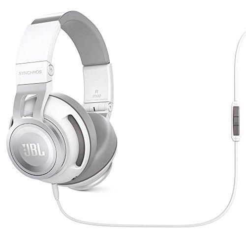 JBL Synchros S500 Over-Ear Kopfhörer mit Apple/Universal Fernbedienung und Mikrofon - Weiß
