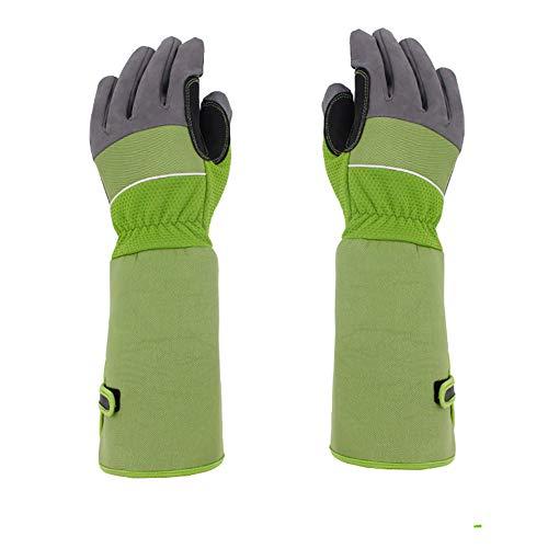Heavy Duty Long Gardening Gloves, Breathable Thorn Proof Garden Work Gloves Gauntlet with 37CM Long Sleeves, to Protect Your Arms Until The Elbow For Women