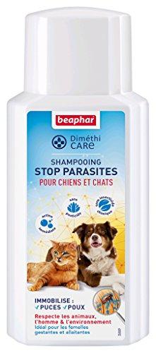 BEAPHAR – DIMÉTHICARE – Shampoing Stop Parasites à l Aloe Vera pour chien et chat – Contre puces, tiques et poux – Sans pesticide et sans insecticide chimique – Action immédiate – Flacon 200 ml