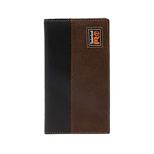 Timberland PRO Men's Leather Long Bifold Rodeo Wallet with RFID, teak, One Size