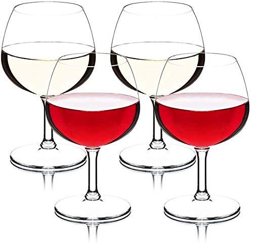 Juego de 2 copas de vino reutilizables para fiestas al aire libre