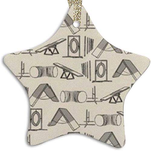 X-Finhao Simple Dog Agility Equipment Ornament (Star) Personalized Ceramic Holiday Christmas Ornament Ideas 2019