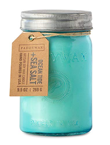 Paddywax Candles Relish Collection Scented Candle, 9.5-Ounce, Ocean Tide + Sea Salt