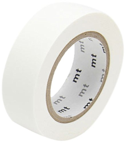 mt Washi Masking Tape Klebebandrolle matt weiß