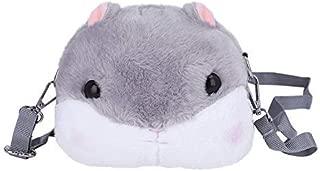 Kids Rabbit Faux Fur Backpack Bunny Hare Shoulder Bags Plush Doll Crossbody Handbag Knapsack Women Girls Travel Satchel