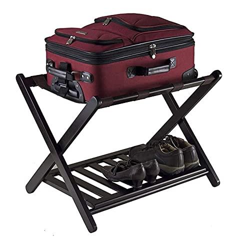 XWSM Gepäckablage Mit Klappbarem Metall-Koffer-gepäckständer, Zweireihiger Gepäckhalter Mit Schuhablage, Gepäckständer Für Schlafzimmer, Gästezimmer, Hotel