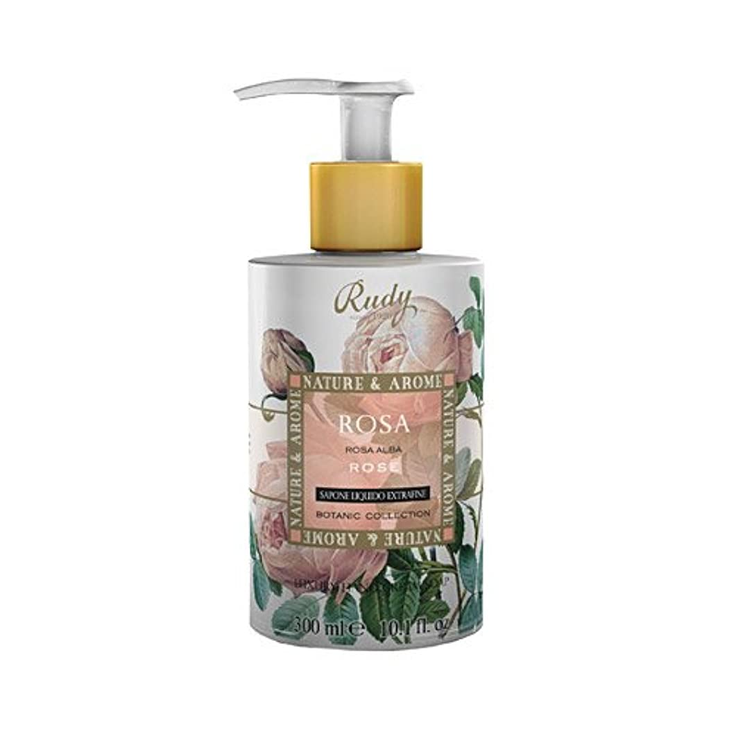 冒険者守銭奴棚RUDY Nature&Arome SERIES ルディ ナチュール&アロマ Liquid Soap リキッドソープ ローズ