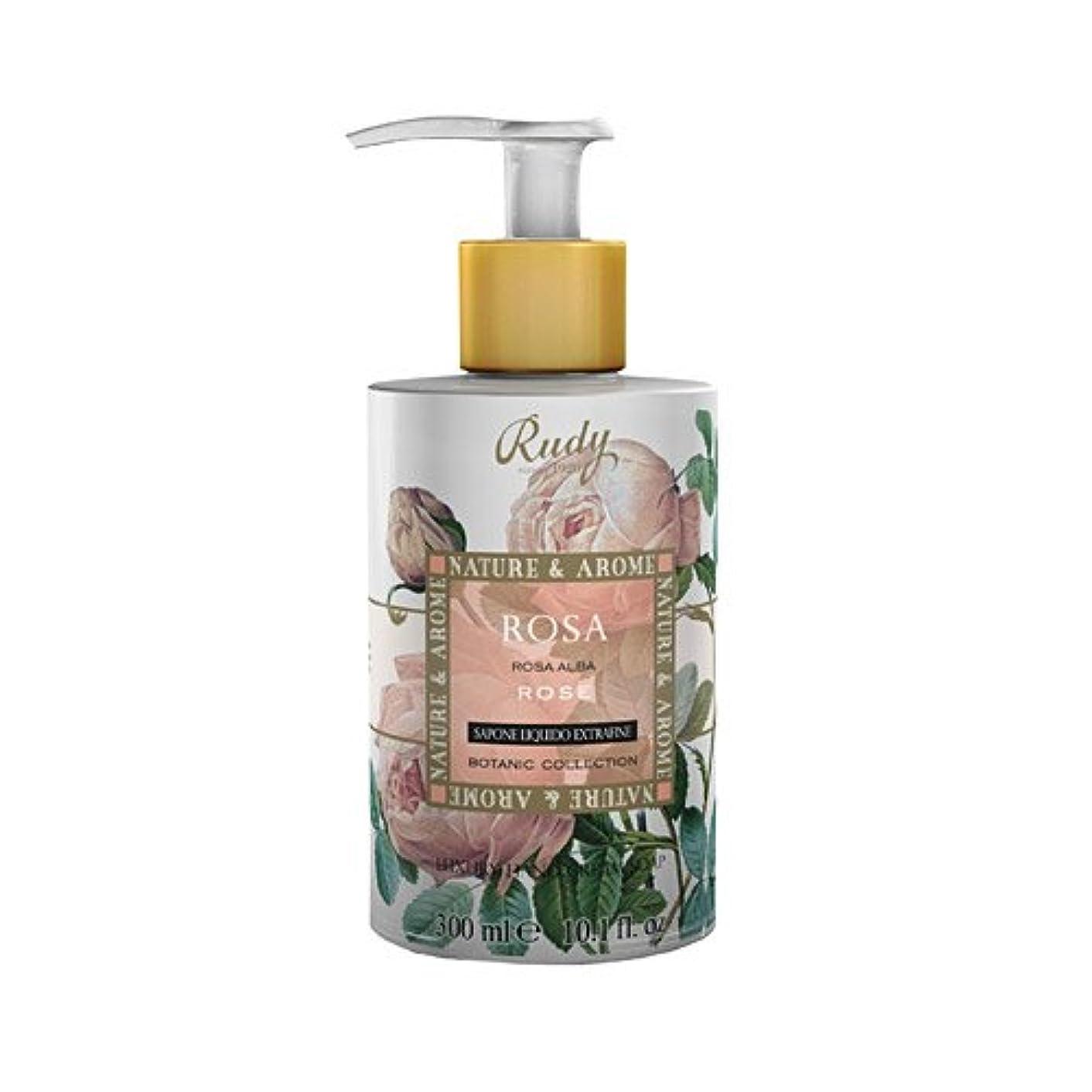 開業医転送労働RUDY Nature&Arome SERIES ルディ ナチュール&アロマ Liquid Soap リキッドソープ ローズ