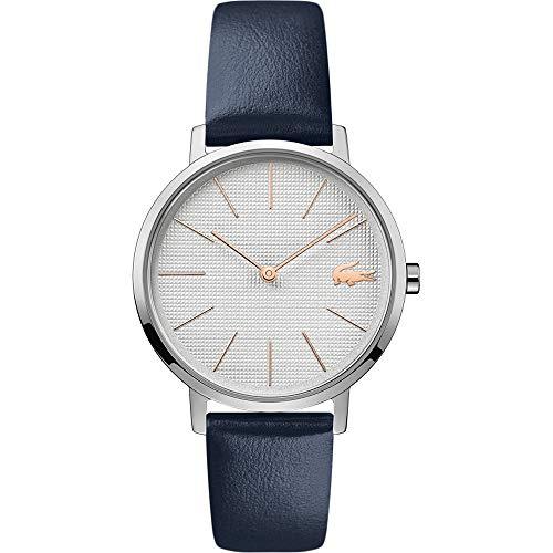 Lacoste Damen Analog Quarz Uhr mit Leder Armband 2001077