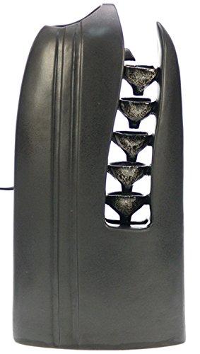 REVIMPORT Schale 19/3230Brunnen Mediterrane Steingut schwarz 20,3x 10,8x 39,5cm