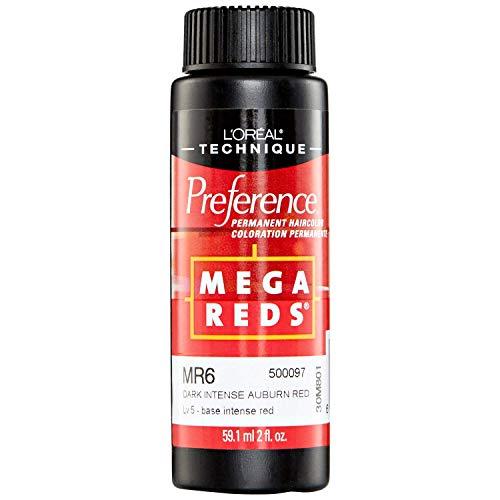 Mega Reds MR6 Dark Intense Auburn Red Permanent Hair Color