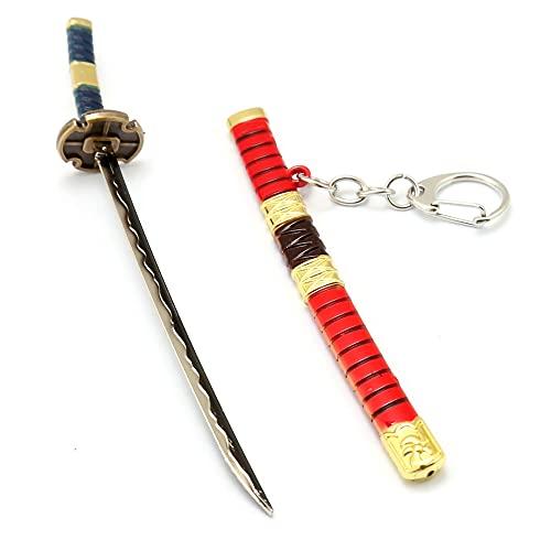 Llavero De Espada One Piece Para Roronoa Zoro, Modelo De Arma De Anime, Juguetes Cos De AleacióN De Zinc (Longitud: 17 Cm)