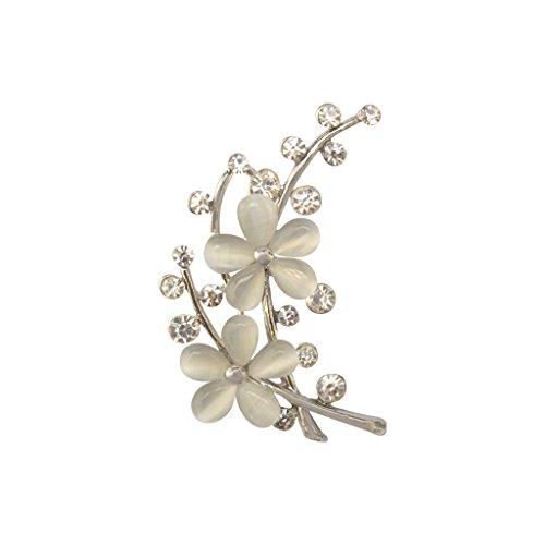 Generic 2016 - Broche de flor con brillantes para accesorios de vestido...