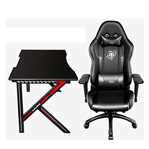E-Sport, Stuhl, Tisch Berufssuperfamilie Verwendung Desktop-Tisch und Stuhl Komplettset mit Doppel Paar Spiel Computer Table Gaming Chair black2