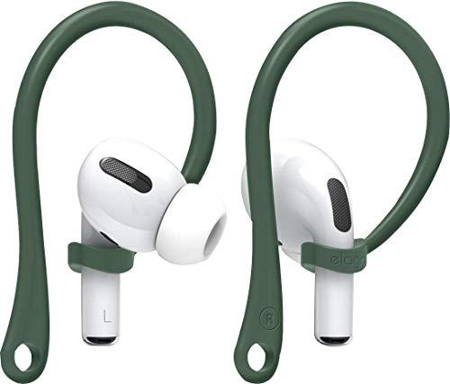 elago EarHooks AirPods Ohrbügel Kompatibel mit Apple AirPods Pro und AirPods 1 & 2 Ohrhalter [US Patent Angemeldet] (Nachtgrün)
