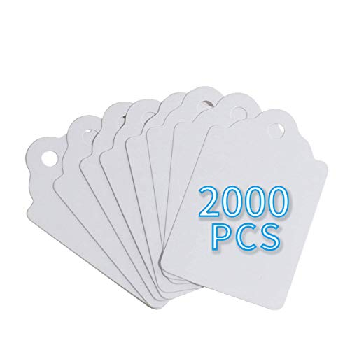 FEMELI Unstrung Marking Tags,2000 Pcs Price Tags,1.75 x 1.1 Inches,White Merchandise Tags for Sale