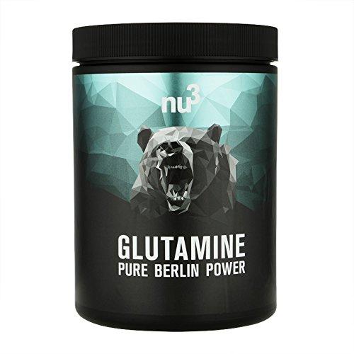 Nu3 L-glutamine – 500g poeder in een doosje – onmisbare aminozuren voor krachtsporters – met ca. 20% het hoogste aandeel van de aminozuren pool – veganistisch en uit gentechniek-vrije maïs
