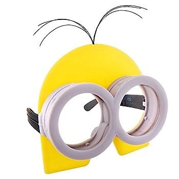 Sun-Staches Costume Sunglasses Kevin Yellow Minion Party Favors UV400 ,Silver  Standard