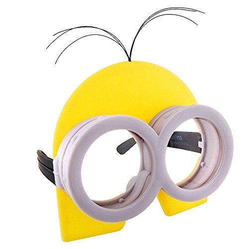 Sun-Staches Costume Sunglasses Kevin Yellow Minion Party Favors UV400 ,Silver , Standard