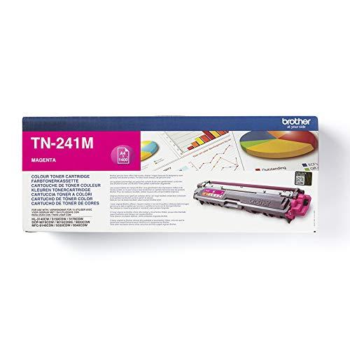 Brother Original Tonerkassette TN-241M magenta (für Brother HL-3140CW, HL-3170CDW, HL-3150CDW, DCP-9020CDW, MFC-9140CDN, MFC-9330CDW, MFC-9340CDW)