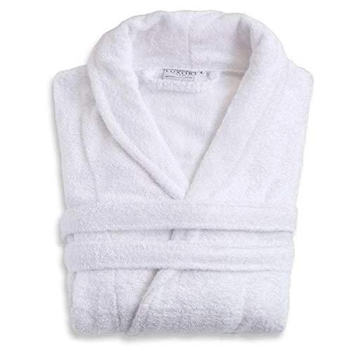 Luxor Linens - Terry Cloth Bathrobes - 100% Egyptian Cotton Bathrobe- Luxurious, Soft, Plush Durable Robe (White, CUSTOM)