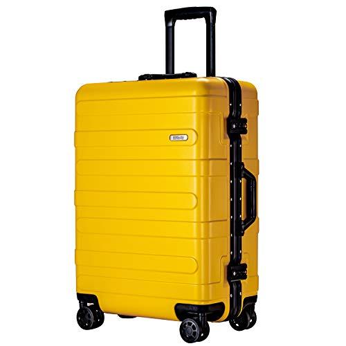 (ヴィヴィシティ)VIVIcity スーツケース アルミフレーム キャリーケース 機内持込可 大型 軽量 TSAロック 安心の1年保証 防塵カバー付き(L イェロー)