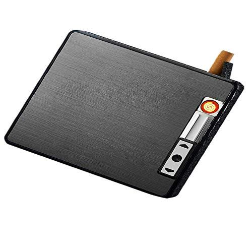 Mingstong sigaret Case-2 stuks/set, met USB elektronische aansteker metalen elektrische sigaret doos
