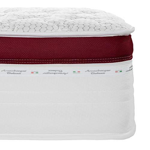 Arensberger ® Deluxx 9 Zonen Taschen-Federkern Matratze mit 3D-Memory Foam, Höhe 30 cm, 140 x 200 cm, Visco & Kaltschaum