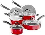 Cuisinart Advantage Cookware Set, Medium, Red
