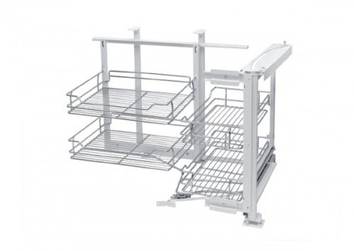 Soft Close Magic Corner Pull Out Storage System (Right Hand) by REJS
