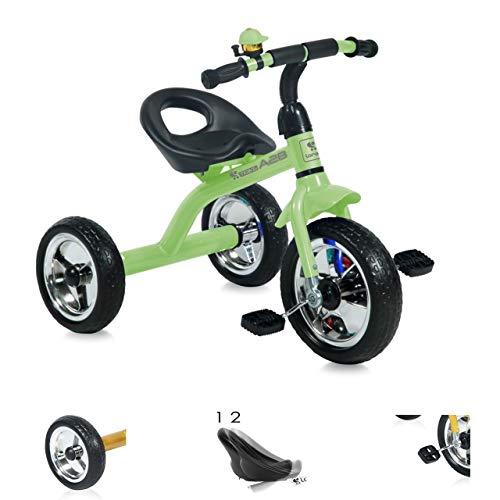 Lorelli Triciclo A28, 2 Posiciones de Asiento, Asiento ergonómico, perillas Antideslizantes, Color:Verde