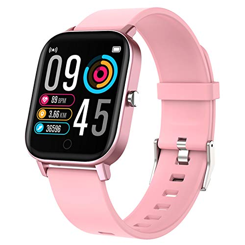 Gushull Fitness Tracker Watch Heart Rate Monitor, Smart Watch Activity Tracker Watch with Calorie Counter, Pedometer Watch for Women Men and Gift (Shallow Coral)