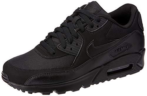 Nike Air Max 90 537384, Herren Sneakers Training, Schwarz (Black/Black/Black/Black), 42 EU