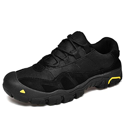 Men's Low-Top Trail Running Shoes, Breathable Hiking Shoes, Suitable for Outdoor Activities, The Best Gift for Husband,Black,45
