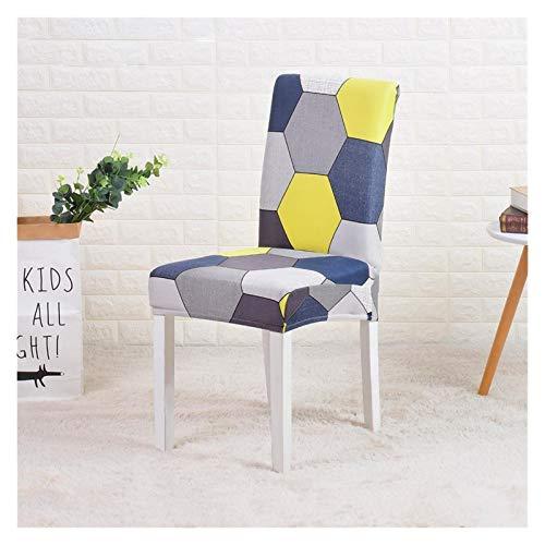 Stuhlbezug Dinning Stuhlabdeckung Stretch Elastic Printing Office Slipcovers Stuhl Sitzbezüge für Esszimmer Küche Hochzeit Bankett Hotel Polyestermaterial ( Color : Color 7 , Specification : 2 PCS )