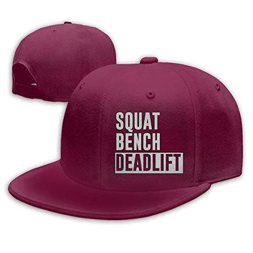 JIMSTRES Squat Bench Deadlift Adjustable Cotton Baseball Cap