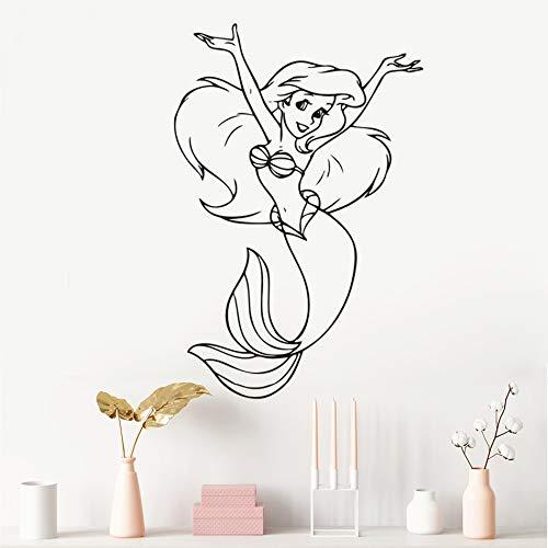 Geiqianjiumai Cartoon-stijl zeemeermin meisjes muursticker kleuterschool decoratie schattige kleine zeemeerminvrouw vinyl muursticker