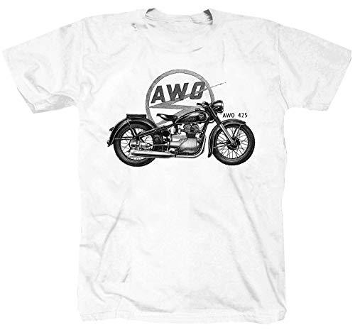 AWO - Camiseta para motociclista, color blanco