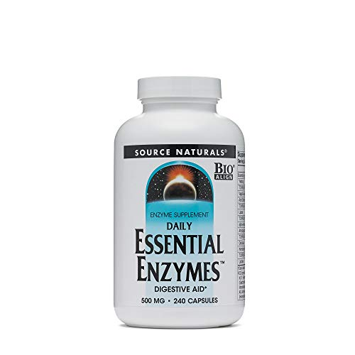 Source Naturals Essential Enzymes 500Mg Bio-Aligned Multiple Supplement Herbal Defense For Digestion, Gas &Amp; Constipation Relief &Amp; Daily Digestive Health - Strong Immune System Support - 240 Vegicaps